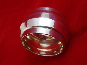Antique Silver Wide Napkin Ring w/ Geometric Design (2646)