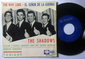 The-Shadows-The-War-Lord-El-Senor-de-Guerre-Spain-Vinyl-7-034-45-EP-la-Voz-66