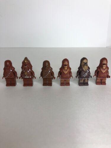 6 LEGO Chewbacca Wookiee Minifigure Star Wars 7958 7879 10188 75129 7260 Army X1