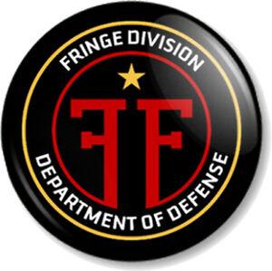 """Fringe Division 25mm 1"""" Pin Button Badge TV Series Sci-Fi FBI Emblem Crest Logo"""