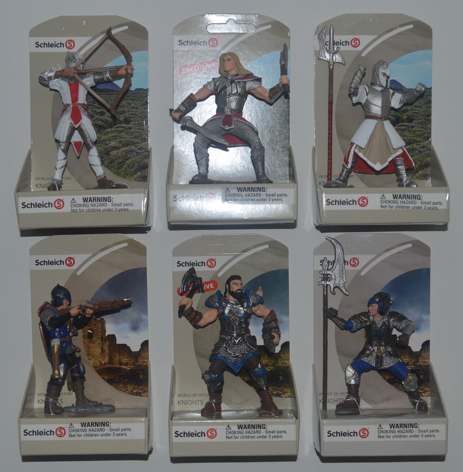 SCHLEICH World of History KNIGHTS Set of 6 Figures Including TRU Exclusives