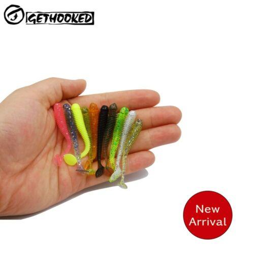 15Pcs//lot Wobblers Fishing Soft Lures Fish Baits 50mm 0.7g Soft Worms