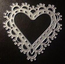Sizzix Die Cutter DECORATIVE HEART FRAME Thinlits fits Big Shot Cuttlebug
