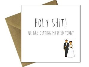 On our wedding day card comedy funny congratulations husband wife to image is loading on our wedding day card comedy funny congratulations junglespirit Images