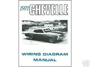 Other Car Manuals Vehicle Parts Accessories 1971 71 Chevelle El Camino Wiring Diagram Manual