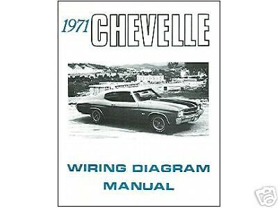 1971 71 Chevelle El Camino Wiring Diagram Manual Ebay