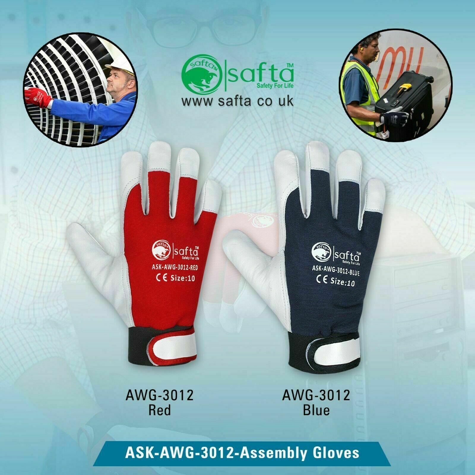 Assembly Winter Glove SheepSkin Leather Back Spandex,fleece Lining AWG-3012