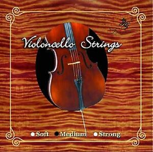 Nylon/Steel Core Cello Strings (Set), 4/4 Full Size
