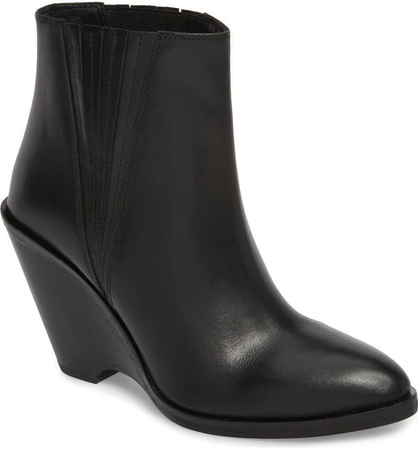 Sychelles sey collection booties schwarz Leder Park Demi wedge Stiefel booties collection Größe 8.5 1b5e54