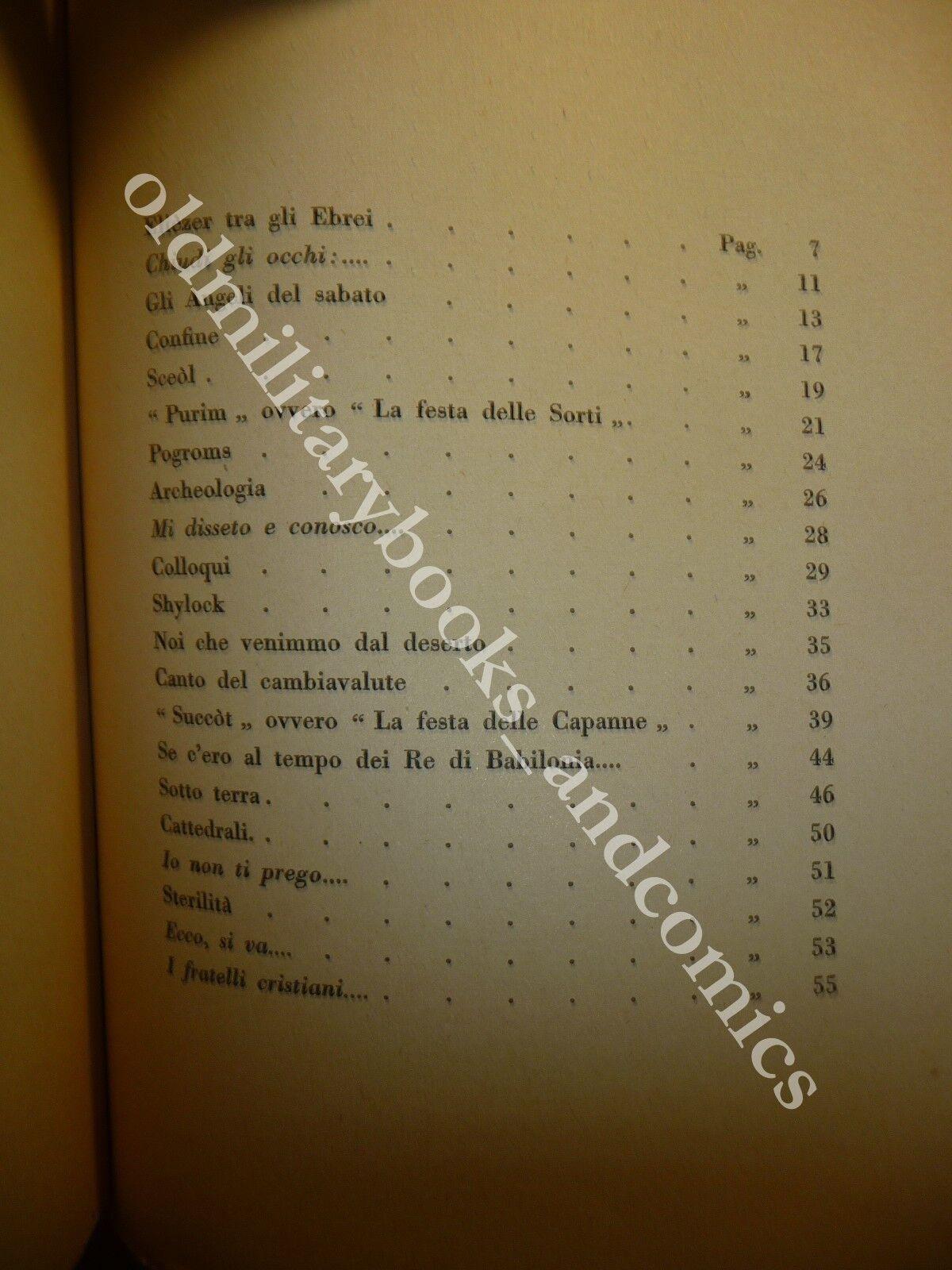 IO EBREO ELIEZER BEN DAVID STORIELLE EBRAICHE 1.000 COPIE NS N 113 BELFORTE 1925