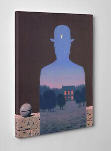 Magritte IL Donatore Felice Quadro Stampa su Tela cm 70x100 Vernice Pennellate