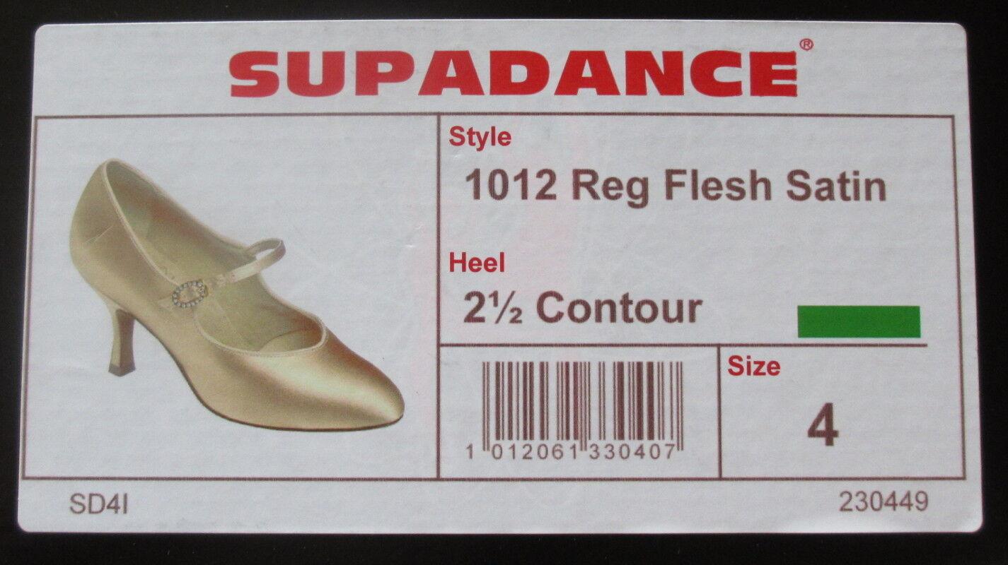 Standard Tanzschuhe NEU OVP OVP OVP Supadance 1012 flesh satin 2 5  contour    Gr. UK 4 777edf