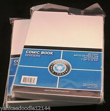 (50) CSP COMIC BOOK TABBED DIVIDERS for COMIC CARDBOARD STORAGE BOXES