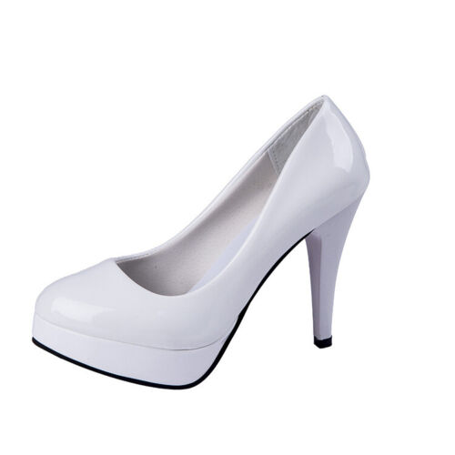 Women/'s High Heels Round Toes Stiletto Slip On Party Dress Slim Solid Work Shoes