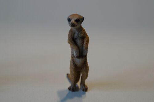 Schleich 14368 Erdmännchen stehend Mangusten meerkat standing Wild Life Zootiere
