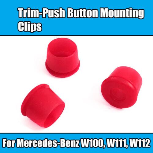 5x Enjoliveur bouton-poussoir pour Mercedes Montage Rondelles en plastique rouge W100 W111 W112