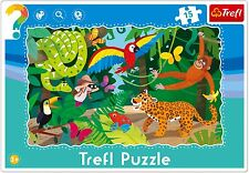 Trefl 15 Piece Baby Kids Unisex Infant Tropical Forest Frame Floor Jigsaw Puzzle
