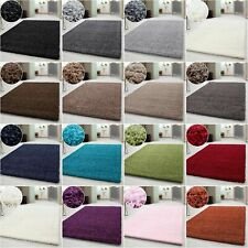Hochflor Shaggy Teppich,Wohnzimmerteppich,einfarbig Langflor,Rechteckig