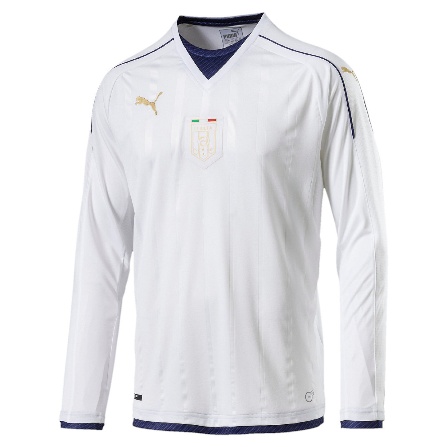 Puma  - Italia  2016 Tribute DryCell Long Sleeve Away Soccer Jersey Weiß