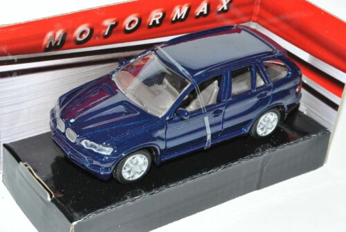Bmw x5 e53 azul oscuro casi negro metálico SUV 1999-2006 1//43 Motormax Model...