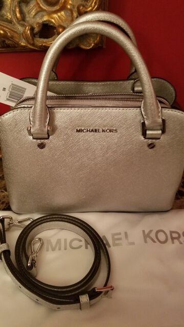 6fa8ec171cc6c9 ... leather satchel black gold 2a94e 94b55; order nwt michael kors savannah  satchel crossbody silver sold out messenger bag 9a86a 9c034