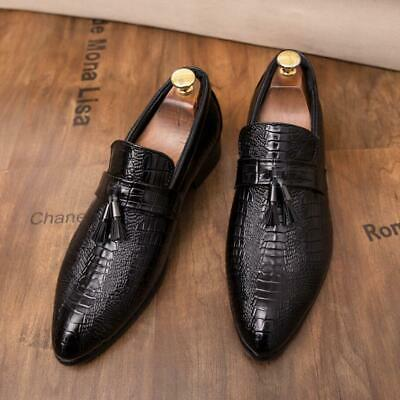 X Men PTassel Slip On Loafers Fashion Dress British ointy Toe moccasin-gommino