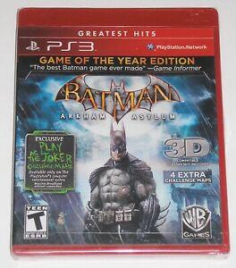 Sony-Playstation-3-Video-Spiel-Batman-Arkham-Asylum-NEU