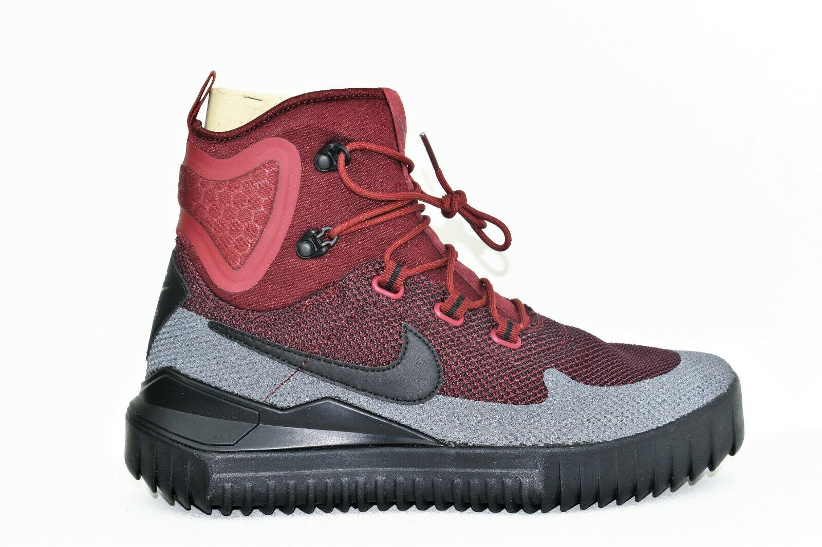 New Nike Air Wild Mid Boots Size 9 Men's Team Red Port Wine Black 916819-600