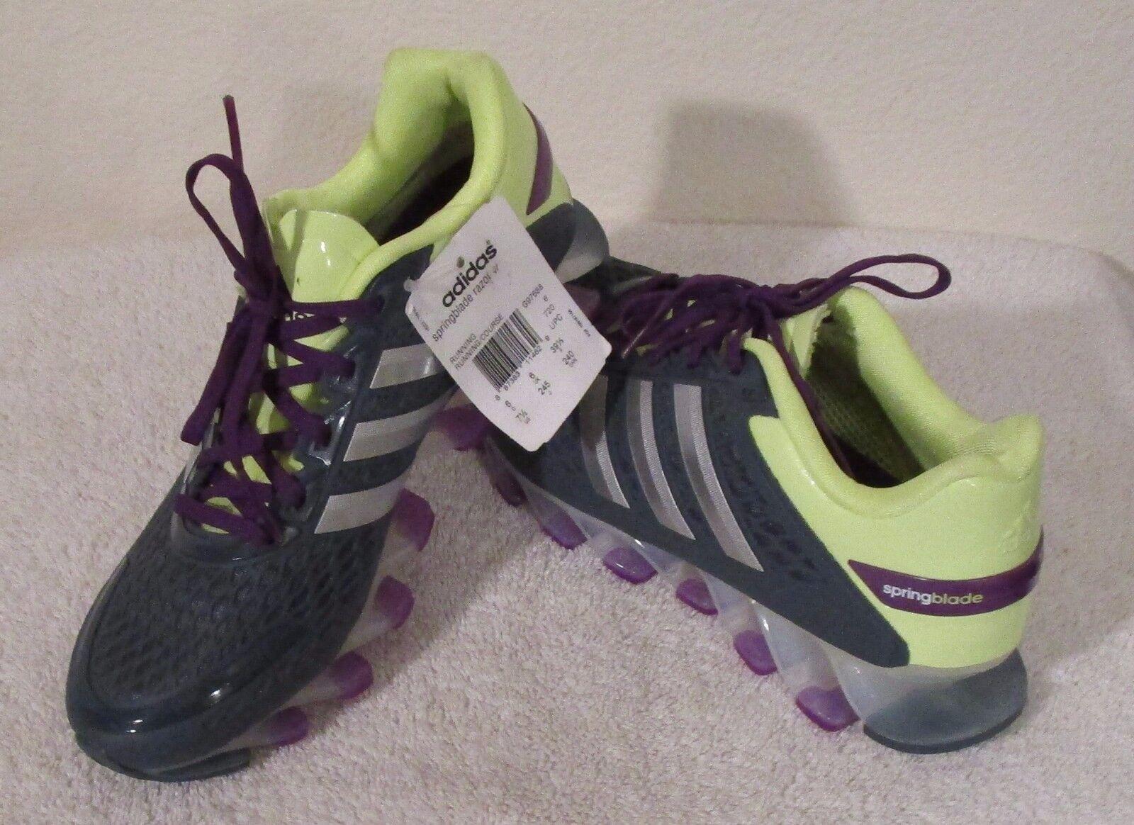 NWT Adidas Springblade Razor Damenschuhe Schuhes Running Schuhes Damenschuhe 7.5 Charcoal MSRP140 710662