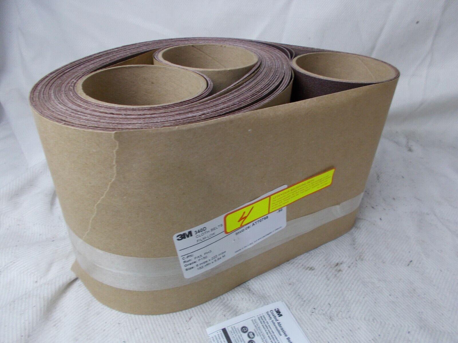 36inx75 in 80 X-weight 3//pk 3M 340D Cloth Belt 340D