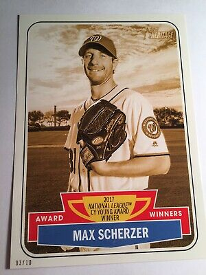 2018 Topps Heritage #67 Max Scherzer Nationals