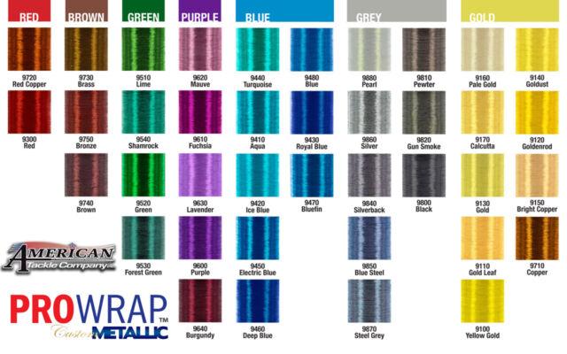 2 Spools Fuji UltraPoly 100m Metallic Size D Rod Building Thread-Pick Color