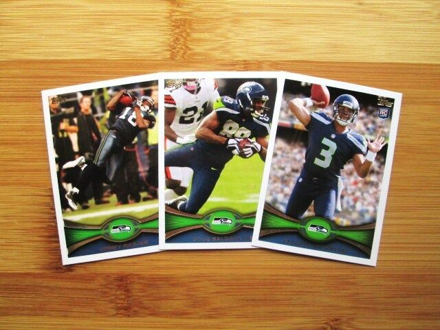 2012 Topps Seattle Seahawks TEAM SET - Russell Wilson ROOKIE