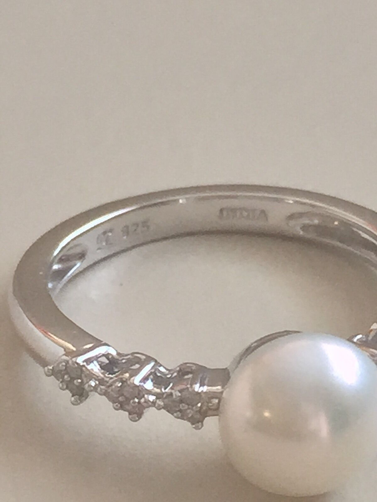 Honora Freshwater Cultured Pear Diamond Ring Size 7