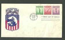 1940 First Day Cover Scott 899 900 901 United States Defense Issue