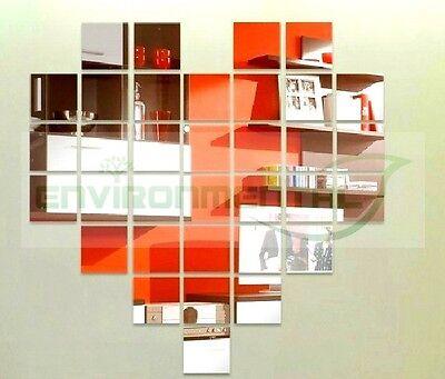 Group Hearts Acrylic Plastic Mirrors Wall ROOM Decal Decor Vinyl Art Stickers