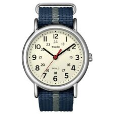 Timex Originals T2N654 Mens Blue Grey Weekender Slip Through Watch RRP £54.99