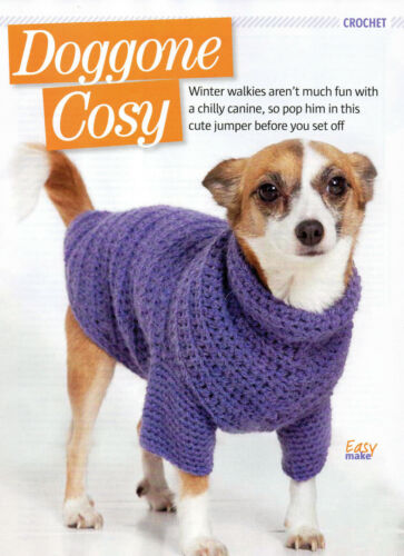 dog coat crochet pattern 99p