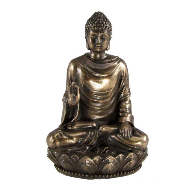 Small Seated Buddha Shakyamuni Statue | Amitabha Buddhism Figure Bronze Color