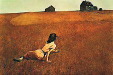 Christina/'s World by Andrew Wyeth Art Print MOMA Poster Girl in Field 27x36