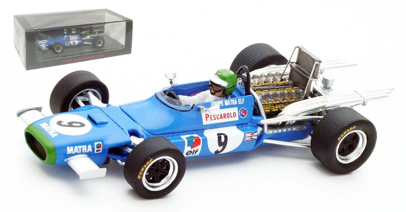 SPARK S4358 MATRA MS11  9 Mexican GP 1968-Henri Pescarolo échelle 1 43