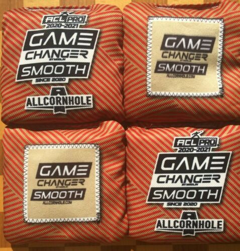 Game Changer Smooth Pro Cornhole Bags ACL ACO Approved Allcornhole In Hand