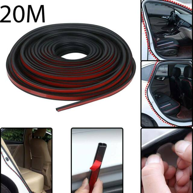 20M B Shape Door Window Edge RubberWeatherstrip Seal Strip Sealing Trim For Car