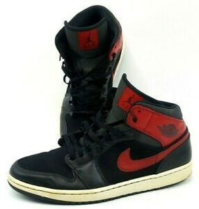 9163b2f902acba 2013 Nike Air Jordan I 1 Retro High OG BLACK RED Sz 12(554724-024 ...