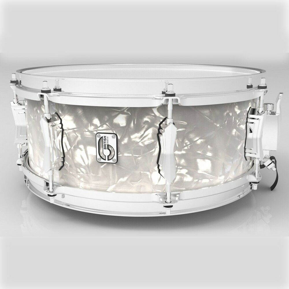 British Drum Company 14 X 6.5  Lounge Series Snare Drum - Windemere Pearl