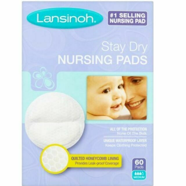 60 Count Lansinoh Stay Dry Disposable Nursing Pads