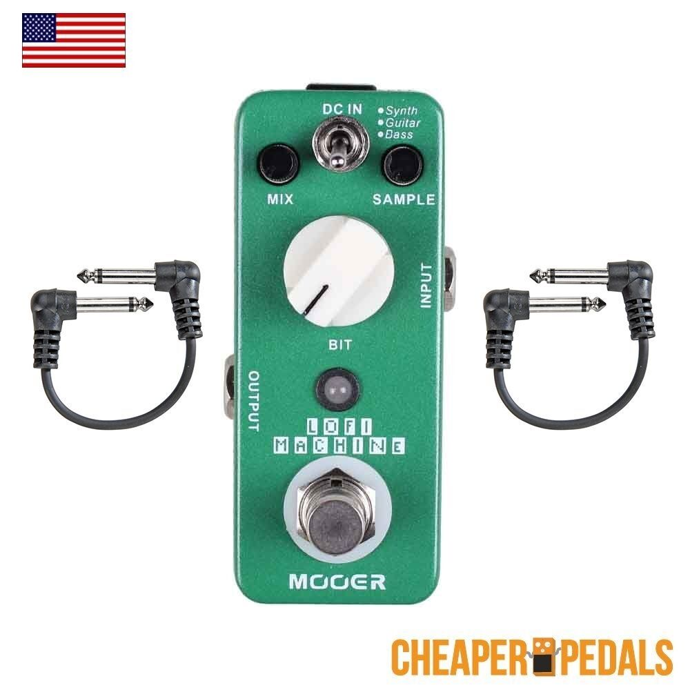 NEW MOOER LOFI Lo Fi Sample Reducing Pedal+ 2 FREE Patch Cables & FREE Shipping