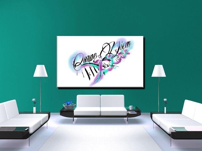 POSTER BILD BILDER XXL POP POP POP ART GRAFFITI CARPE DIEM TATTOO ABSTRAKT - 150x90 2856b6