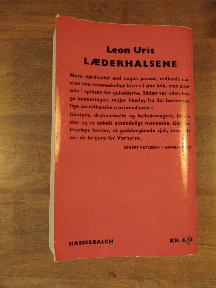 Læderhalsene, Leon Uris, genre: roman