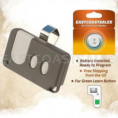 Craftsman Garage Door Opener Mini Remote Control Work With Green Learn Button Garage Doors Openers Parts Building Supplies